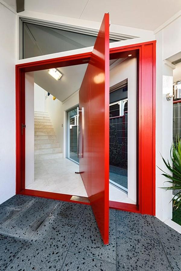 Desain Pintu Rumah Unik tanpa Engsel