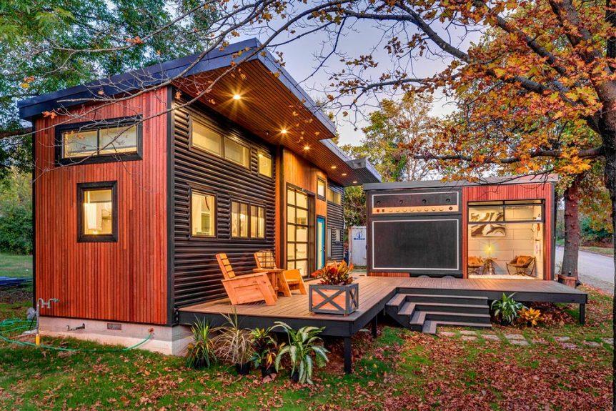 Rumah Minimalis 2021 Fasad Kombinasi Logam dan Kayu